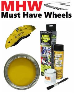 E-Tech YELLOW Brake Caliper Paint Kit -Complete Kit - Paint / Cleaner / Brush