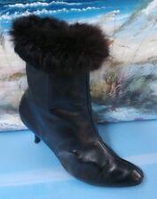 Women's Black Heel Boots Sz 7.5B