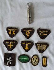 More details for vintage girl guides whistle & badges