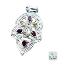 appealing Multi 925 Sterling Silver Multi Pendant genuine jewellery US gift