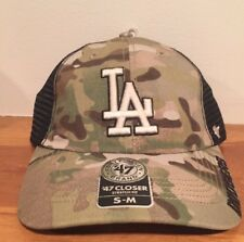 Los Angeles Dodgers '47 MLB Closer Cap Small Medium S/M Camo Garand