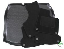 AUDI A3 8P 3/5 DOOR 2003-2012 Tailored black floor car mats + boot tray mat