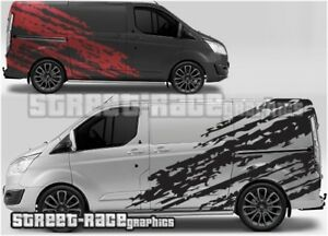 Ford Transit Custom Rally 005 racing shredded graphics stickers decals vinyl