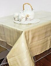 Clear Vinyl Tablecloth Stain Protector Durable Dining Table Protector Cover