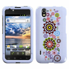 For LG Marquee HARD Protector Case Snap on Phone Cover Smile Sunflower