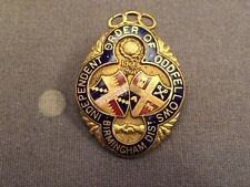 nice old masonic medal badge independent order of oddfellows birmingham dist