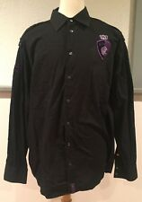 Coogi Australia Since 1969 MCMLXIX Button Dress Long Sleeve Shirt Black XXL