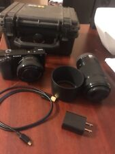 Sony a6000 camera with 16-50 And 55-210 lenses  Pelican Case