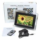 """Christmas Gift 7"""" LCD Digital Photo Movies Frame MP4 Player Alarm Remote Control"""