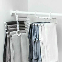 5 Layer Clothes Hanger Laundry Space Saving Rack Ties Scarf Trouser Organizer