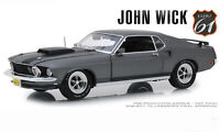 John Wick's 1969 Ford Mustang Boss 429 Charcoal Grey 1:18 LE MIB