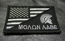 MOLON LABE SPARTAN USA FLAG TACTICAL COMBAT MORALE 3 INCH HOOK PATCH  (MLB4)