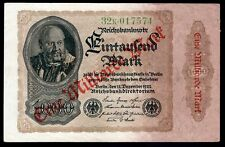 Germany. Reichsbanknote. 1 Milliarden Mark overprint, 32k.017574, 15-12-1922,...