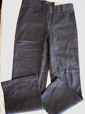 NWT Nautica Navy Blue Flat Front School Uniform Pants, 8R