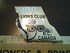 LIONS CLUB COLLECTORS PIN  CANADA 108 LIONS CLUB B.C. WITH COVERED WAGON
