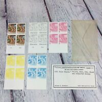 Vintage 1981 Suomi Finland Stamp Color Proof Set Yellow Red Blue Black Completed