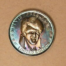 Elvis Presley Half Ounce .999 Pure Silver Medal, Heavily Toned, Comes with Box