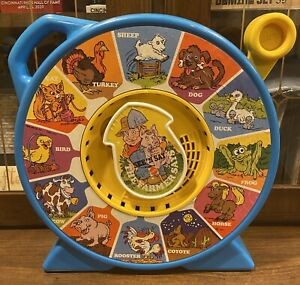 Vintage 1989 Mattel The Farmer Says See 'N Say Talking Spinning Farm Toy Works