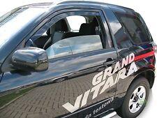 SUZUKI GRAND VITARA mk2 + SWB 2005-2015 Set di FRO Vento DEFLETTORI 2pc HEKO