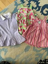 Girls Size 3T Sundress Pick One Or All Floral Striped Polo Pink Green Purple