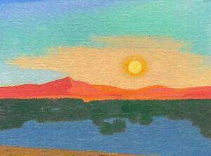 Southwest Modern Art Santa Fe Oil Painting Western Desert New Mexico Landscape