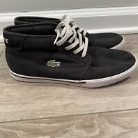 Lacoste Men's Ampthill Canvas Chukka Trainers Lace Up High Top 10