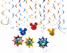 DISNEY MICKEY MOUSE BIRTHDAY PARTY HANGING SWIRLS CLUBHOUSE CEILING PACK OF 12