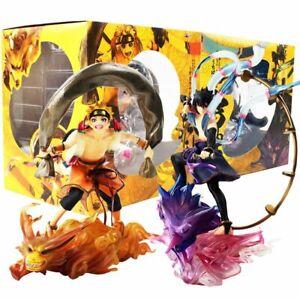 Naruto Uzumaki & Sasuke Uchiha Action Figure Toy Model PVC Figurine Doll 16-18cm