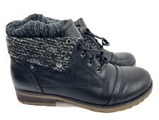 Moda Chics Black Fold Over Boot Women's Shoes Size 11