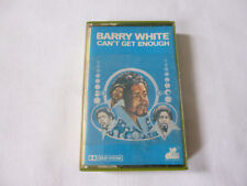 BARRY WHITE ~ CAN'T GET ENOUGH ~ RARE 1974 UK SOUL CASSETTE TAPE ~ PAPER LABELS