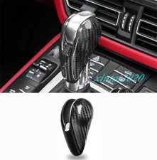 Real Carbon Fiber Gear Shift Knob Head Cover Trim For Porsche 911 2016-2018