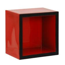 "2 PCS. Japanese 2.25"" Square x 1-5/8""H Red Lacquer Sake Cup Masu, Made in Japan"