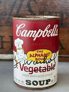 ANDY WARHOL -  Campbell's Soup Can ! VEGETABLE SOUP !!