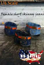 1/6 Scale Denim Jeans Shorts with Belt A For TBLeague PHICEN Female Figure ❶USA❶