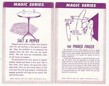2 - Magic Series, Magic Tricks Antique Arcade Cards N3887