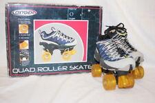 New Oxygen Quad Roller Skates Boys 5 Wmns 7 Athletic Upper Blue/Gray/Yellow