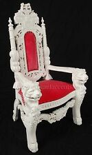 MINI Lion Throne Chair - 3 Feet Tall Child or Doll Size - White finish / Pink