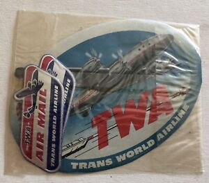 VINTAGE TWA DECALS STICKERS NEW IN SEALED BAG