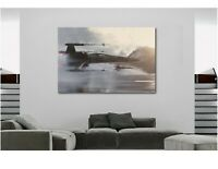 X WING STAR WARS - OVER WATER Canvas Wall Art Framed Print