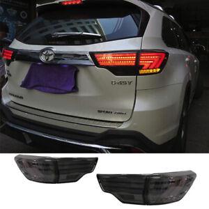 For Toyota Highlander Tail Lights Assembly 2014-2019 Black Color LED Rear Lamps