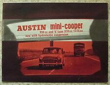 AUSTIN MINI COOPER 998cc & COOPER S 1275cc Car Sales Brochure c1964 #2284
