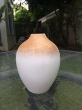 Handmade Small Mango Wood Vase Oval Shape Modern Style#1