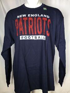 New England Patriots NFL Men's Junk Food Blue Long Sleeve Football T-Shirt XL