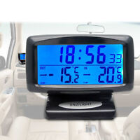 2 in 1 Car Electronic Digital Clock Car Indoor Outdoor Thermometer Plastic Top