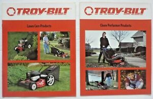 2 Original TROY BILT Chore Performer & Lawn Care Products Dealers Sales Brochure