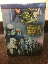 Star Wars: The Clone Wars - The Complete Seasons 1-5 (Blu-ray Disc, 2013) Sealed