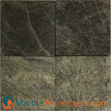 """6""""X6"""" RAIN FOREST GREEN TUMBLED HONED - MARBLE TILE  for floring"""
