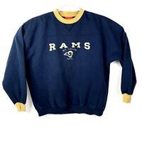 VTG St. Louis Rams Embroidered Mens NFL Sweatshirt Size XL  90's