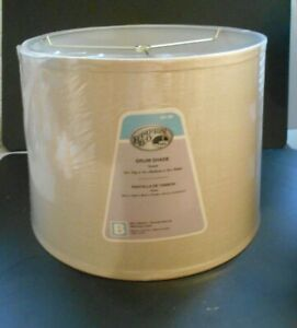 Hampton Bay Taupe Drum Lamp Shade 12 in top x 14 in bottom x 10 in slant