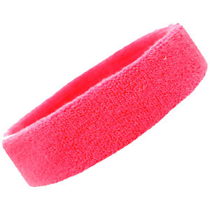 Sweatband Head Band Terry Cotton Sweat Headband Gym Workout Sports Sweatbands